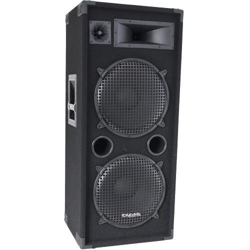 "Ibiza Sound STAR215 3-way disco column speakers 2 x 15""/38cm - 1000w (1)"