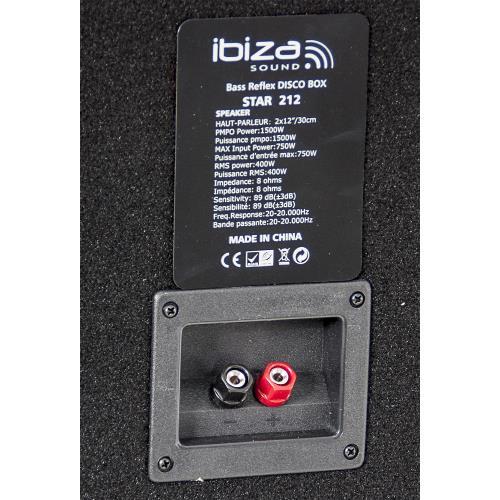 "Ibiza Sound STAR215 3-way disco column speakers 2 x 15""/38cm - 1000w (4)"