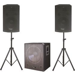 Ibiza Sound CUBE1512 Compleet actief 2.1 systeem 'plug & play' (1)