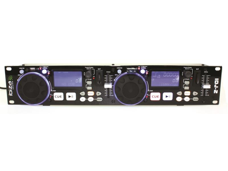 Ibiza Sound IDJ2 Dubbele usb/sd controller met scratch (1)