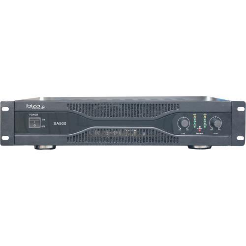 Ibiza Sound SA500 Vermogensversterker 2 x 250w (1)