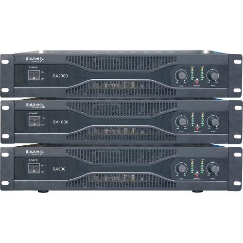 Ibiza Sound SA500 Vermogensversterker 2 x 250w (2)