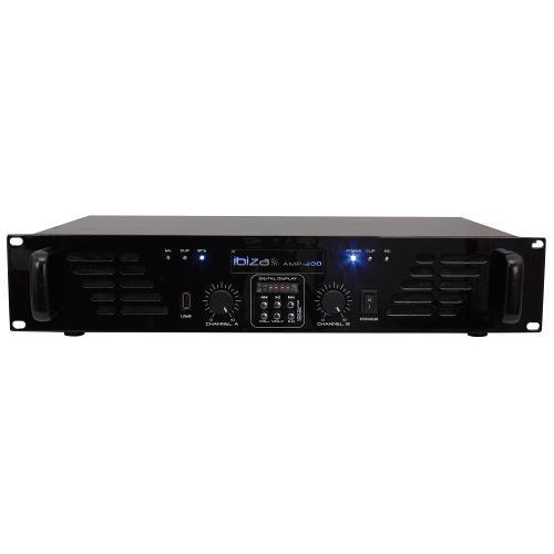 Ibiza Sound AMP300USB-BT Disco versterker met lijn ingang, usb & bluetooth 2 x 240w (1)