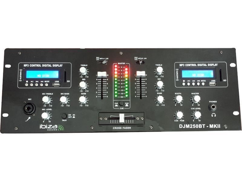 Ibiza Sound DJM250BT-MKII 2-kanaals dj mengpaneel met usb, sd & bluetooth (1)