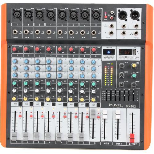 Ibiza Sound MX802 8-kanals muziekmengpaneel met usb & bluetooth (2)