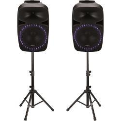 "Ibiza Sound PKG15A-SET Geluidset met usb/sd player + bluetooth 15""/38cm - 2 x 500w max. (1)"