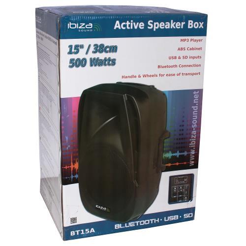 """Ibiza Sound BT12A Actieve speaker met usb/sd speler + bluetooth 12""""/30cm - 450w (4)"""