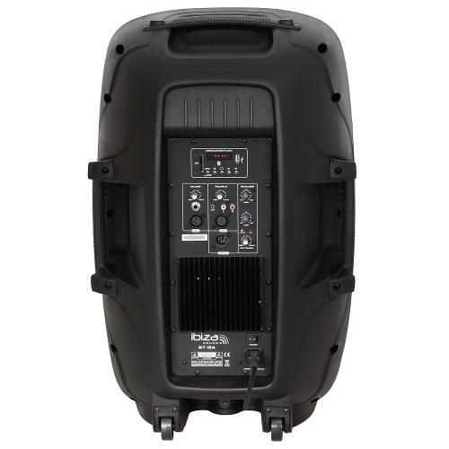 """Ibiza Sound BT15A Actieve speaker met usb/sd speler + bluetooth 15""""/38cm - 500w (2)"""
