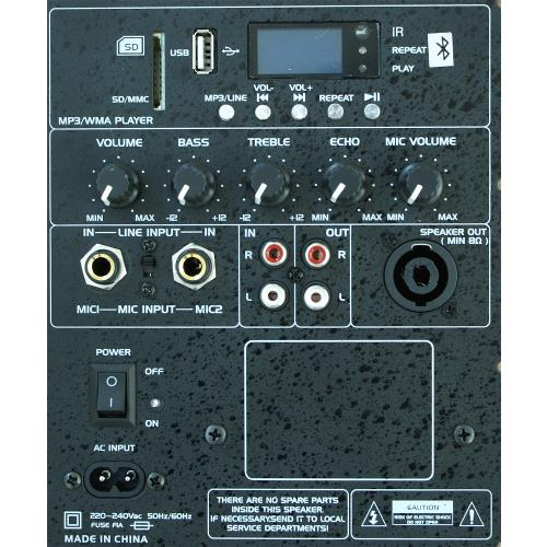 """Ibiza Sound SLK10A-BT Actieve speakerbox 10""""/25cm 400w met bluetooth-usb/mp3 (2)"""