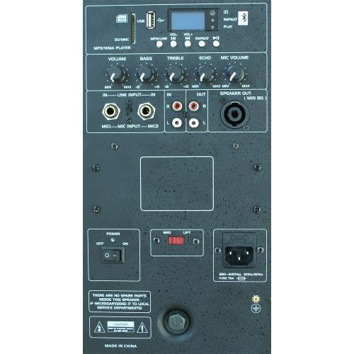 """Ibiza Sound SLK15A-BT Actieve speakerbox 15""""/38cm 800w met usb-mp3  & bluetooth (2)"""