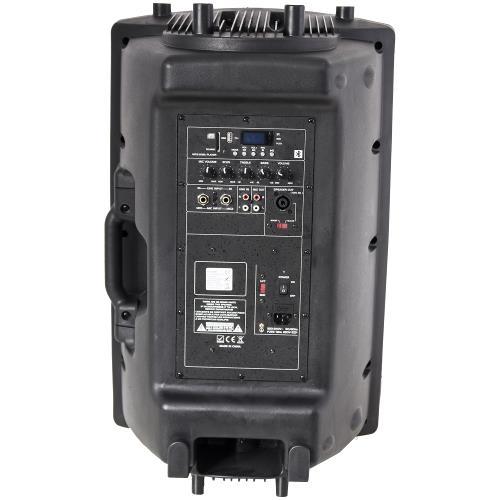 """Ibiza Sound SLK15A-BT Actieve speakerbox 15""""/38cm 800w met usb-mp3  & bluetooth (3)"""