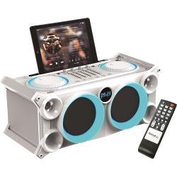 Ibiza Sound SPLBOX200-WH Draagbaar  audio stereo systeem met batterij, bluetooth, usb, sd & fm tuner (1)
