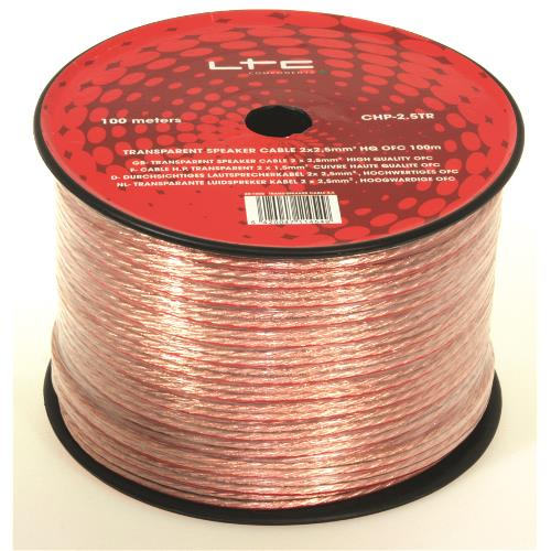 LTC Audio CHP2.5TR Transparante luidspreker kabel 2 x 2,5mm² (2)