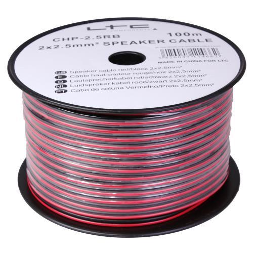 LTC Audio CHP4RB Luidspreker kabel rood/zwart 2 x 4mm² (2)