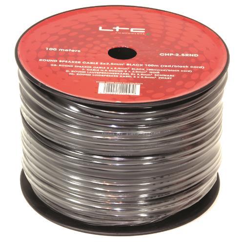 LTC Audio CHP2.5RND Ronde luidspreker kabel 2 x 2,5mm² zwart (2)