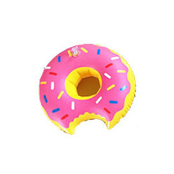 Opblaasbare donut blikhouder drankhouder zwembad