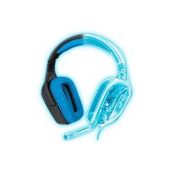 Logitech 981-000537 Headset Microfoon Over-Ear USB Extern 2.33 m Zwart/Blauw