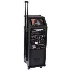"Ibiza Sound PORT9CD-VHF Professioneel draagbaar geluidsysteem met dvd, usb/mp3, micro, vhf en scherm tft 9"" (1)"
