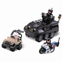 Sluban M38-B0655 Bouwstenen Police Serie Gepantserd Voertuig