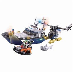 Sluban M38-B0657 Bouwstenen Police Serie Police Boat