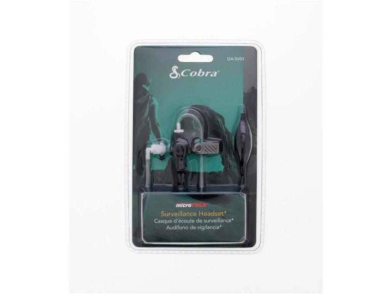 Cobra GA-SV01 Bewaking Headset 2.5 mm Zwart