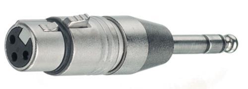 NTR-NA3FP XLR socket/jack plug stereo 6.3 mm