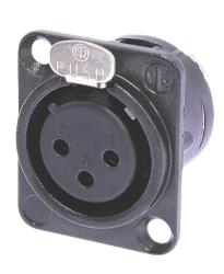 Neutrik NC3FD-L-B-1 XLR 3p connector