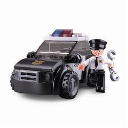 Sluban M38-B0638D Bouwstenen Police Serie Patrouillewagen