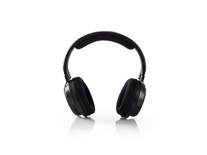 Nedis HPRF200BK Draadloze hoofdtelefoon | Radiofrequentie (RF) | Over-ear | Zwart