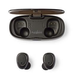 Nedis HPBT5050BK Draadloze hoofdtelefoon | Bluetooth® | In-ear | True Wireless Stereo (TWS) | Oplaadstation