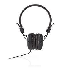 Nedis HPWD1100BK Bedrade hoofdtelefoon | On-ear | Opvouwbaar | 1,2 m ronde kabel | Zwart