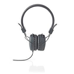 Nedis HPWD1100GY Hoofdtelefoon met snoer | On-ear | Opvouwbaar | 1,2 m ronde kabel | Grijs