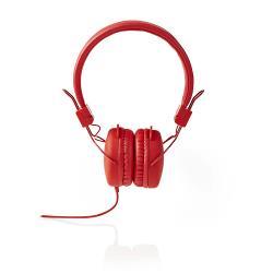 Nedis HPWD1100RD Hoofdtelefoon met snoer | On-ear | Opvouwbaar | 1,2 m ronde kabel | Rood