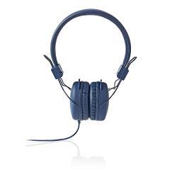 Nedis HPWD1100BU Hoofdtelefoon met snoer | On-ear | Opvouwbaar | 1,2 m ronde kabel | Blauw