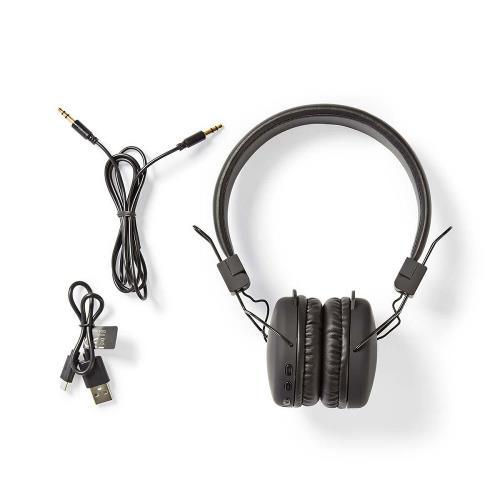 Nedis HPBT1100BK Draadloze hoofdtelefoon | Bluetooth® | On-ear | Opvouwbaar | Zwart