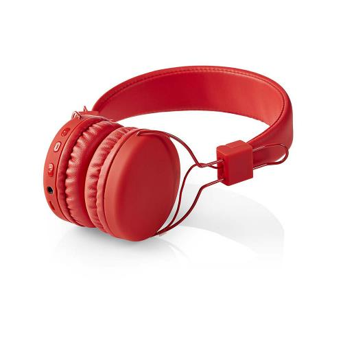Nedis HPBT1100RD Draadloze hoofdtelefoon | Bluetooth® | On-ear | Opvouwbaar | Rood