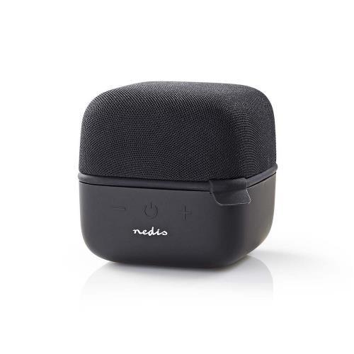 Nedis SPBT1000BK Luidspreker met Bluetooth®   15 W   True Wireless Stereo (TWS)   Zwart / zwart