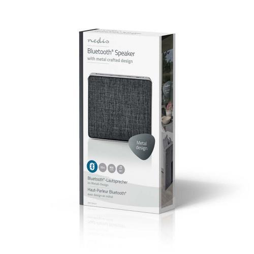 Nedis SPBT1002GY Luidspreker met Bluetooth®   15 W   Metaalbewerkt ontwerp   Gunmetal