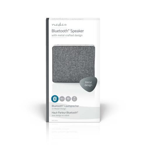 Nedis SPBT1002AL Luidspreker met Bluetooth®   15 W   Metaalbewerkt ontwerp   Aluminum-zilver