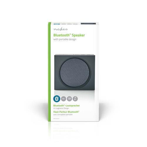 Nedis SPBT2000GY Luidspreker met Bluetooth®   9 W   Maximaal 6 uur speelduur   Grijs