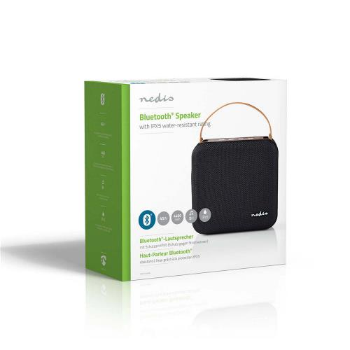 Nedis SPBT35100BN Luidspreker met Bluetooth® | 45 W | Waterbestendig | Draaggreep | Zwart / bruin