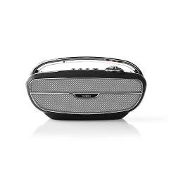 Nedis RDFM5300BK FM-radio | 60 W | Bluetooth® | Zwart / zilver