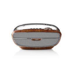 Nedis RDFM5300BN FM-radio | 60 W | Bluetooth® | Bruin / zilver