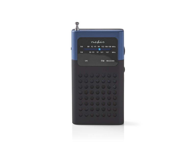 Nedis RDFM1100BU FM-radio | 1,5 W | Zakformaat | Zwart / blauw