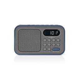 Nedis RDFM2200BU FM-radio | 2,1 W | Klok & alarm | Grijs / blauw