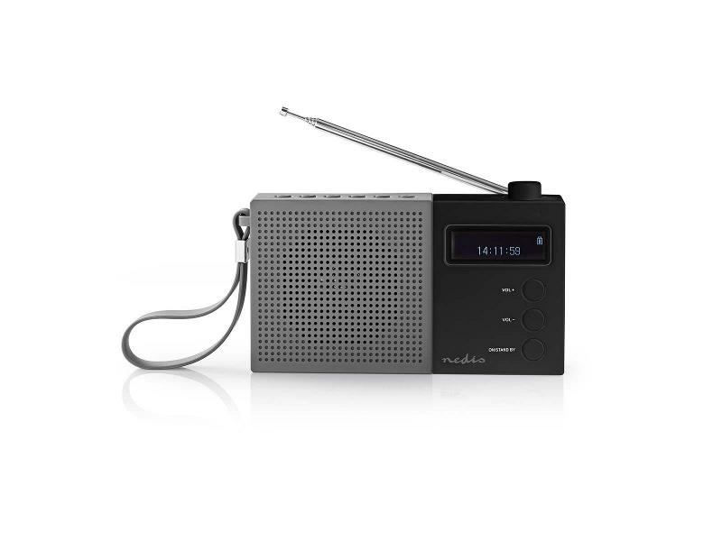 Nedis RDDB2210BK Digitale DAB+ radio | 4,5 W | FM | Klok & alarm | Grijs / zwart