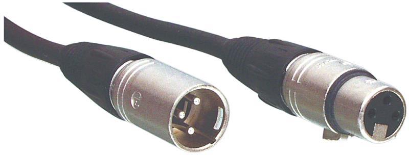 Tasker 101764 BLACK Microfoon kabel NC3MX-NC3FX zwart 12,0 m