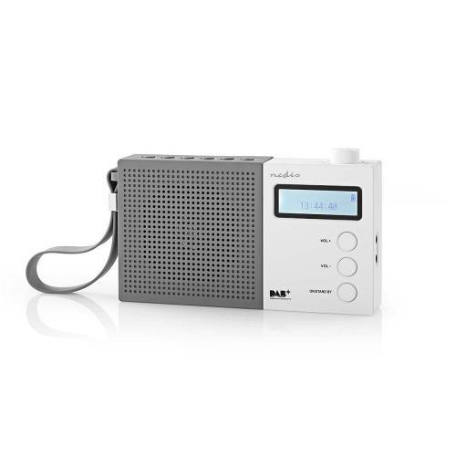 Nedis RDDB2210WT Digitale DAB+ radio   4,5 W   FM   Klok & alarm   Grijs / wit