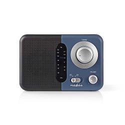 Nedis RDFM1300BU FM-radio | 2,4 W | Draaggreep | Zwart / blauw