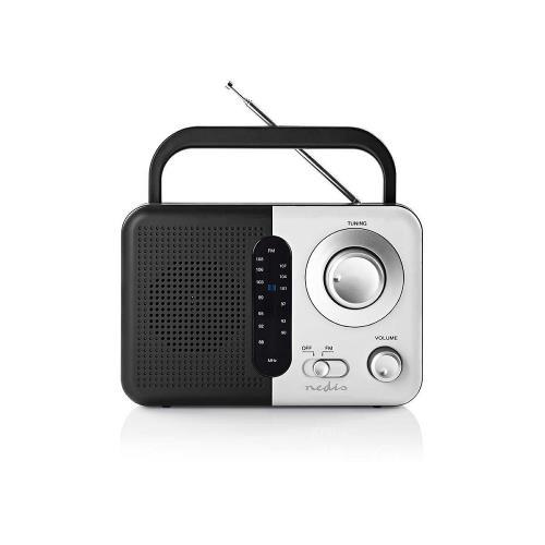 Nedis RDFM1300WT FM-radio | 2,4 W | Draaggreep | Zwart / wit